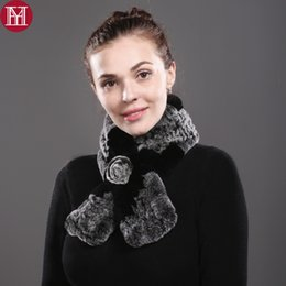 Real Rex Rabbit Fur Scarves NZ - Women 100% Real Rex Rabbit Fur Scarf 2017 Rex Rabbit Fur Worm And Soft Neckerchief Fashion Scarves Wholesale Retail