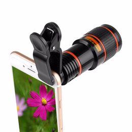 $enCountryForm.capitalKeyWord Australia - Telephoto Lens Monocular Telescope Phone Universal Optical 8x 12x Zoom Phone Camera Telescope Lens with Clip for Smartphone