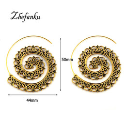 swirl earrings NZ - New Exaggerated Spiral Hoop Earrings Swirl Gear-Shaped Earrings For Woman Fashion Personalized