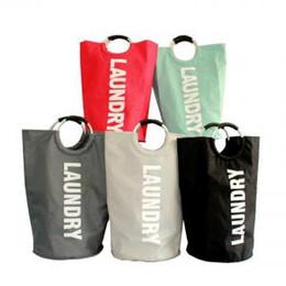 $enCountryForm.capitalKeyWord Canada - Large Laundry Basket Collapsible Laundry Hamper Foldable Clothes Bag Folding Washing Bin Storage Basket buggy bag VVA320