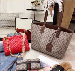 $enCountryForm.capitalKeyWord Australia - Designer Handbags Brand Bag Paris Real Leather Luxury Handbags Shopping Bag Shoulder Bag Fashion Clutch Bags Wallet Purse 1 Piece=3 bags Q18