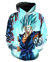 Wholesale dragon ball z hoodie for sale – custom Unisex Dragon Ball Z Goku Hoodies d Print Casual Hoodie Men Women Clothing Harajuku Style Pullover Jackets Brand Quality Coat YT0149