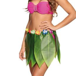 c31122307dfa0 HOT Ladies Sexy Hawaiian Hula Girl Grass Leaf Skirt Fancy Costume Sexy  Short Mini Skirt Dance Clubwear Metallic Pleated