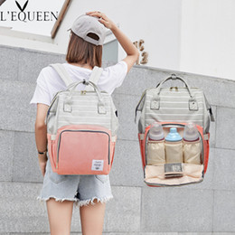 $enCountryForm.capitalKeyWord Australia - Fashion Mommy Diaper Bag Baby Bag Maternity Baby Care Stroller Nappy Bagmummy Wheelchairs Carriage Backpack Mother Changing Bag