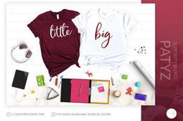 Big Little Shirts Australia - PADDY DESIGN Big Little Sorority Reveal T-shirt Couple Matching Women Top Tee Letter Print O-neck Female Tumblr Graphic T shirt