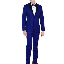 $enCountryForm.capitalKeyWord NZ - Royal Blue 2 Buttons Shawl Lapel Mens Suits for Wedding 2 Pieces Groom Suits Italian Man Mens Wedding Suits Tuxedos