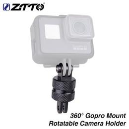 Gopro Bicycle Australia - 360 Bicycle Rotatable Gopro Mount High-Strength cycling Camera Holder adapter for garmin helmet yi virb MTB Road bike #509908