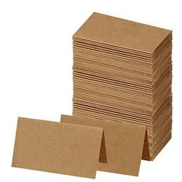 $enCountryForm.capitalKeyWord Australia - 50Pcs Pack White Kraft Paper Card Message Memo Wedding Party Gift Thank You Cards Label Bookmarks Blank Kraft Card Word