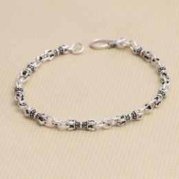 $enCountryForm.capitalKeyWord NZ - S925 pure silver Delicate jewelry retro lady's pure and fresh element bracelet trend Fashion vajra blade bracelet women