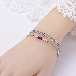 $enCountryForm.capitalKeyWord Australia - 2Pcs Pure hand-made simple personality bracelet couple fashion temperament fine bracelet to send girlfriend gifts