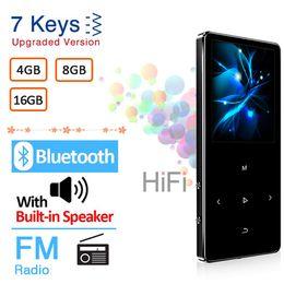MP3 Player with Bluetooth Speaker Touch key Built-in 4GB 8GB 16GB HiFi Metal Mini Portable Walkman with radio FM recording on Sale