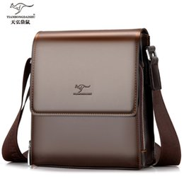 Vertical briefcase bag online shopping - New man vertical pu leather bag men s commercial men s briefcase bags high quality handbag IPAD shoulder business bag