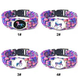 $enCountryForm.capitalKeyWord Australia - PaUnicorn Adjustable Bracelets Unicorn Outdoor Survival Roperacord Bracelets For Women Men Child Jewelry Gift Free Shipping