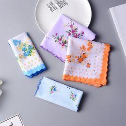 $enCountryForm.capitalKeyWord Australia - Cotton Handkerchief Cutter Ladies Handkerchief Craft Vintage Hanky Floral Wedding Party Handkerchief Support 30*30cm Random Color LX6851
