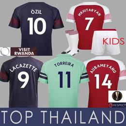 2b3cc7c7fd4 Ozil Soccer Jersey Canada - 18 19 EUROPA MKHITARYAN Soccer Jersey Kids  Football Shirt Torreira LACAZETTE