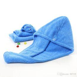 $enCountryForm.capitalKeyWord NZ - SF Shower Caps For Magic Quick Dry Hair Microfiber Towel Drying Turban Wrap Hat Caps Spa Bathing Caps free shipping