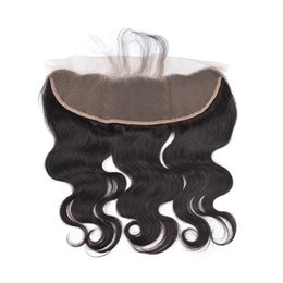 Real Peruvian Human Hair Closures Australia - Ear To Ear Full Lace Frontal Closure 13x4 Body Wave Brazilian Virgin Real Human Hair Lace Front Closures Top Extensions With Baby Hair