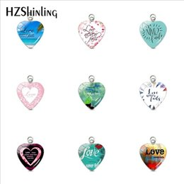 Hand Shaped Charms Australia - Love Never Fail Bible Verse Quotes Heart Shaped Stainless Steel Plated Charms Hand Craft Glass Dome Heart Pendants Jewelry Gifts