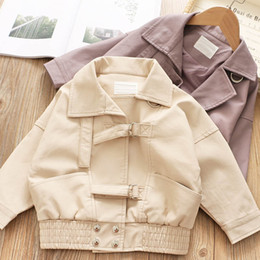 $enCountryForm.capitalKeyWord Canada - Pu leather Girls jackets new 2019 autumn winter fashion kids jacket kids designer clothes girls coat kids outwear kid coats A7505