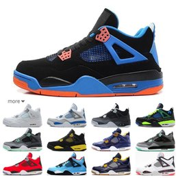 $enCountryForm.capitalKeyWord NZ - 2019 Basketball Shoes for men 4 4s Cactus Jack black cat Dunk white Blue athletic Sports casual design Sneakers 7-13 free shipping