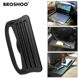 mini stand for tablet UK - BROSHOO Car Steering Wheel Table Tablet Stand For IPad And Other Tablets Mini Desk For Auto Easy Install Place Car Styling