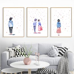 living art paintings NZ - Abstract Young Lovers Posters And Prints Wall Art Canvas Painting Wall Pictures For Living Room Decor Poster Decoration