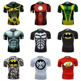 $enCountryForm.capitalKeyWord Australia - Superhero Men T shirt Short Sleeve Superrman Spiderrman Battman Avengers Captainn America Ironnman Style Cotton Clothing Free Shipping