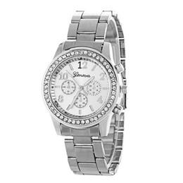 $enCountryForm.capitalKeyWord UK - GENBOLI Trendy Women Crystal Quartz Watch Geneva Three-eye Diamond Watch Luxury Stainless Steel Strap Round Dial