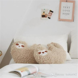 $enCountryForm.capitalKeyWord Australia - 20170624 Lovely Cartoon Soft Jungle Animal Sloths Plush Toys Lightning Doll Young Girls Hold Pillow Free Shipping
