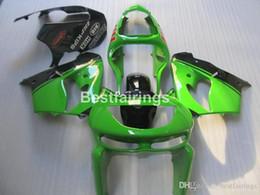 Kawasaki Zx9r 1998 Green Fairing Australia - Free customize plastic fairing kit for Kawasaki Ninja ZX9R 98 99 green black bodywork fairings set ZX9R 1998 1999 YW17