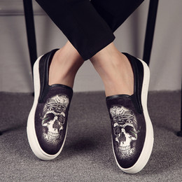 $enCountryForm.capitalKeyWord Australia - italian brand designer men casual comfortable cow leather shoes slip on lazy shoe summer breathable printing loafers zapatos man