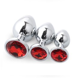 $enCountryForm.capitalKeyWord Australia - 12 Color Choose Large Middle Small Size 3pcs As 1 Set Steel Anal Plug Metal Butt Insert Gay Sex Toys For Men Women Y190714