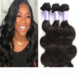 16 22 inch weaves style Australia - A 8a Brazilian Virgin Hair Bundles Body Wave Human Hair Weave 3 Bundles Wet And Wavy Hair Style