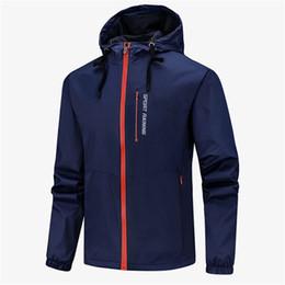 clothing coat sport 2019 - Hot Men Designer Jacket Coat Sport Brand Sweatshirt Hoodie Long Sleeve Autumn Sports Zipper Windcheater Men Clothes Plus