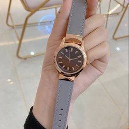 $enCountryForm.capitalKeyWord Australia - sapphire glass WOMAN Rose gold 36MM CASE Gray BELT 2019 QUARTZ fashion Stainless steel new Women watch wristwatch Womens watches