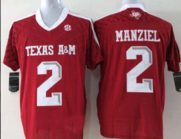 1e376f7fe Cheap custom Texas A&M Aggies Johnny Manziel #2 College Red Football Jersey  Stitched XS-3XL