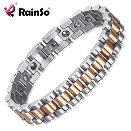$enCountryForm.capitalKeyWord NZ - Rainso 99.999% Pure Germanium Bracelet For Women Korea Popular Stainless Steel Health Magnetic Germanium Energy Power Jewelry MX190718