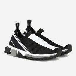 Luxusmode Sorrento Sneaker Mens Designer Schuhe Stoff Stretch Jersey Slip-On Sneaker Dame Zwei-Ton Gummi Micro Sole Casual Schuhe 12