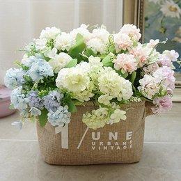Hortênsia Flores Artificiais 9 Cabeças Bola Bunch Flor De Seda Falso Para Capina Decoração de Casa Hortênsia Pequeno Buquê em Promoção