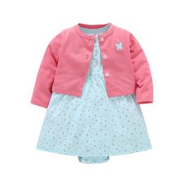 $enCountryForm.capitalKeyWord Australia - Newborn Baby Girl Dress Regular O-neck 2pcs Sets Floral Dresses + Long Sleeve Red Cardigan Infant Toddle Girls Clothes Set Y19061101