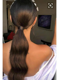 $enCountryForm.capitalKeyWord UK - Long Peruvian Ponytail Human Hair Extensions Horsetail Remy Hairpiece Loose Wave Magic Wrap Around Clip In Pony Tail For Women