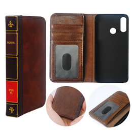 vintage leather book covers UK - Hot Sell Flip Leather cell Phone Case for Samsung galaxy A30 Cover Wallet Retro Bible Vintage Book Business Pouch