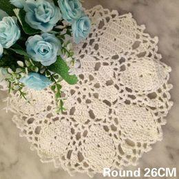 $enCountryForm.capitalKeyWord Australia - 26CM Round Modern Handmade Cotton Placemat Cup Coaster Kitchen Christmas Table Mat Cloth Lace Crochet Coffee Doily Wedding