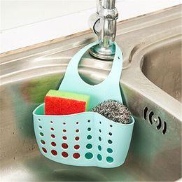$enCountryForm.capitalKeyWord Australia - 1pc Sink Sponge Holder 2 Bags Holes Tap Hanging Strainer Organizer Storage Rack Kitchen Storage Basket Holder Drop
