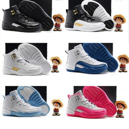 ce5f786673ff Youth new 12 Grey Pink Black White Kids Basketball Shoes Childrens Sports  Shoes 12s Sneakers Cheap Kids Shoes fashion trainer for boys girls