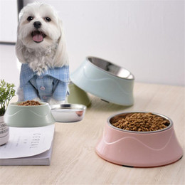 $enCountryForm.capitalKeyWord Australia - Pets Supplies Feeding Dishes Non-Slip Base Stainless Steel Color Spray Paint Pet Dog Bowls Puppy Cats Drink Water Feeder