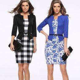 $enCountryForm.capitalKeyWord NZ - Fake 2-piece Women Dress Sale Professional Formal Dress Women's Elegant Dress Women Office Brand Fashion Plus Size dresses women