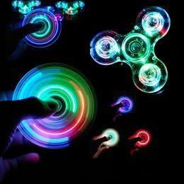 Figet spinners online shopping - Luminous LED light Fidget Spinner Hand Top Spinners Glow in Dark Light EDC Figet Spiner Finger Stress Relief Toys