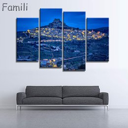 Painting Rooms House Australia - 2019Unframed Fashion 4Panel House Modern Wall Art HD Picture Canvas Print Canvas Painting For Living Room Picture