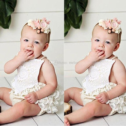$enCountryForm.capitalKeyWord Australia - 0-24M Newborn Infant Kid Baby Girl Cotton Halter Backless Sleeveless Lace Floral Romper One-piece Jumpsuit Child Outfits Clothes